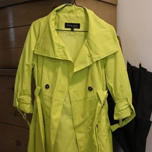 Highlighter Yellow Trench Coat